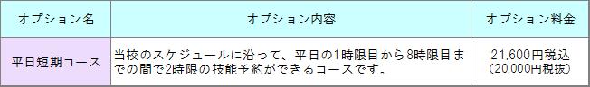平日短期2万円